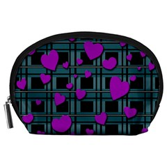 Purple Love Accessory Pouches (large)  by Valentinaart