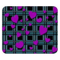 Purple Love Double Sided Flano Blanket (small)  by Valentinaart