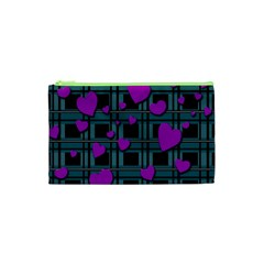 Purple Love Cosmetic Bag (xs) by Valentinaart
