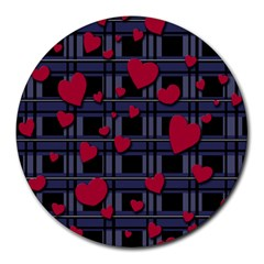 Decorative Love Round Mousepads by Valentinaart