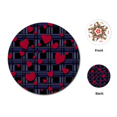 Decorative Love Playing Cards (round)  by Valentinaart