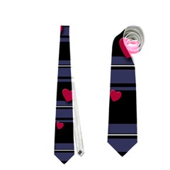 Decorative Love Neckties (one Side)  by Valentinaart