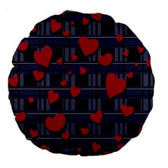 Decorative Love Large 18  Premium Round Cushions by Valentinaart