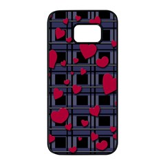 Decorative Love Samsung Galaxy S7 Edge Black Seamless Case