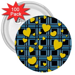 Love Design 3  Buttons (100 Pack)  by Valentinaart