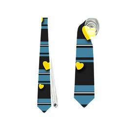 Love Design Neckties (one Side)  by Valentinaart