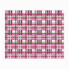 Pink Plaid Pattern Small Glasses Cloth by Valentinaart
