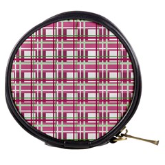 Pink Plaid Pattern Mini Makeup Bags by Valentinaart