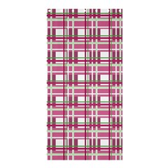 Pink Plaid Pattern Shower Curtain 36  X 72  (stall)  by Valentinaart
