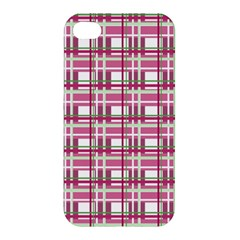 Pink Plaid Pattern Apple Iphone 4/4s Hardshell Case by Valentinaart