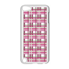 Pink Plaid Pattern Apple Ipod Touch 5 Case (white) by Valentinaart