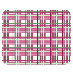 Pink Plaid Pattern Double Sided Flano Blanket (medium)