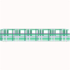 Green Plaid Pattern Small Bar Mats