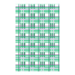 Green Plaid Pattern Shower Curtain 48  X 72  (small)  by Valentinaart