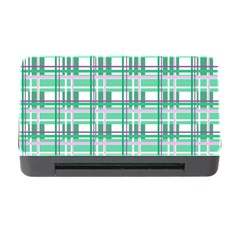 Green Plaid Pattern Memory Card Reader With Cf by Valentinaart
