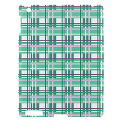Green Plaid Pattern Apple Ipad 3/4 Hardshell Case by Valentinaart