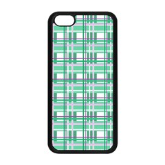 Green Plaid Pattern Apple Iphone 5c Seamless Case (black)
