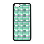 Green plaid pattern Apple iPhone 5C Seamless Case (Black) Front