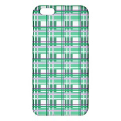 Green Plaid Pattern Iphone 6 Plus/6s Plus Tpu Case by Valentinaart