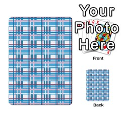 Blue Plaid Pattern Multi Purpose Cards (rectangle)  by Valentinaart