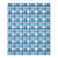 Blue Plaid Pattern Shower Curtain 60  X 72  (medium)  by Valentinaart