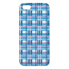 Blue Plaid Pattern Iphone 5s/ Se Premium Hardshell Case