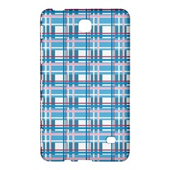 Blue Plaid Pattern Samsung Galaxy Tab 4 (7 ) Hardshell Case  by Valentinaart