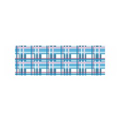 Blue Plaid Pattern Satin Scarf (oblong) by Valentinaart