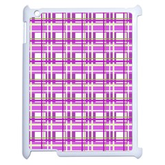 Purple Plaid Pattern Apple Ipad 2 Case (white) by Valentinaart