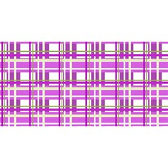 Purple Plaid Pattern You Are Invited 3d Greeting Card (8x4) by Valentinaart
