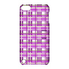 Purple Plaid Pattern Apple Ipod Touch 5 Hardshell Case With Stand by Valentinaart