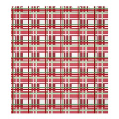 Red Plaid Pattern Shower Curtain 66  X 72  (large)