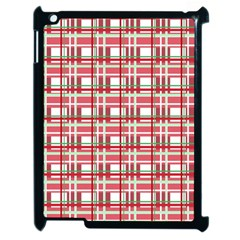 Red Plaid Pattern Apple Ipad 2 Case (black) by Valentinaart