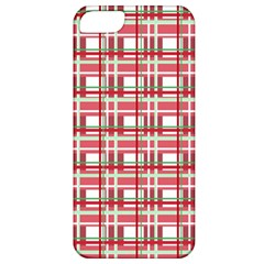 Red Plaid Pattern Apple Iphone 5 Classic Hardshell Case by Valentinaart