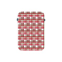 Red Plaid Pattern Apple Ipad Mini Protective Soft Cases by Valentinaart