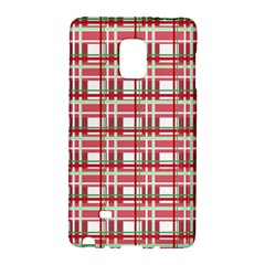 Red Plaid Pattern Galaxy Note Edge