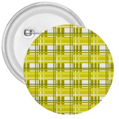 Yellow Plaid Pattern 3  Buttons