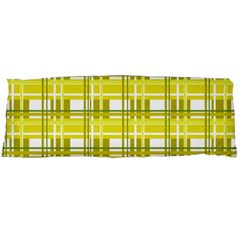 Yellow Plaid Pattern Body Pillow Case Dakimakura (two Sides) by Valentinaart