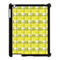 Yellow Plaid Pattern Apple Ipad 3/4 Case (black) by Valentinaart