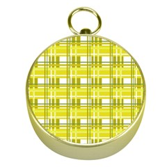 Yellow Plaid Pattern Gold Compasses by Valentinaart