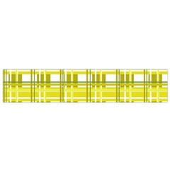 Yellow Plaid Pattern Flano Scarf (small) by Valentinaart