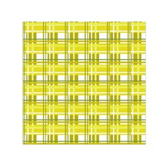 Yellow Plaid Pattern Small Satin Scarf (square) by Valentinaart