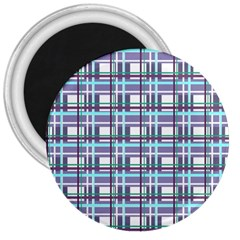 Decorative Plaid Pattern 3  Magnets by Valentinaart