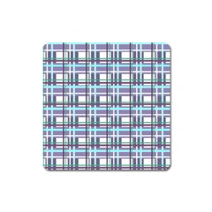 Decorative Plaid Pattern Square Magnet by Valentinaart