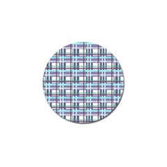 Decorative Plaid Pattern Golf Ball Marker (10 Pack) by Valentinaart