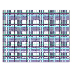 Decorative Plaid Pattern Rectangular Jigsaw Puzzl by Valentinaart