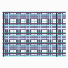 Decorative Plaid Pattern Large Glasses Cloth (2 Side) by Valentinaart