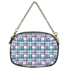 Decorative Plaid Pattern Chain Purses (one Side)  by Valentinaart