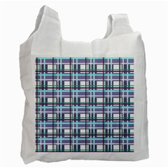 Decorative Plaid Pattern Recycle Bag (one Side) by Valentinaart