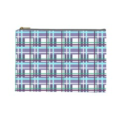 Decorative Plaid Pattern Cosmetic Bag (large)